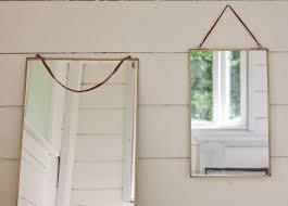 Brass Hanging Mirror
