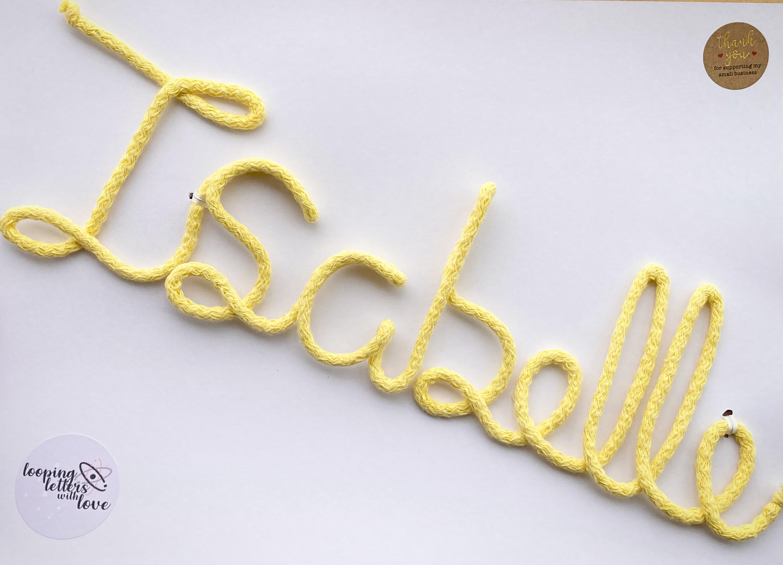 Hand Knitted Wire Words